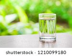 pure fresh water in glass with... | Shutterstock . vector #1210099180
