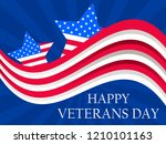 happy veterans day 11th of... | Shutterstock .eps vector #1210101163
