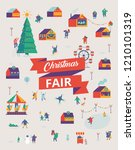 christmas market and holiday... | Shutterstock .eps vector #1210101319