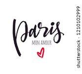paris mon amour lettering...   Shutterstock .eps vector #1210102999