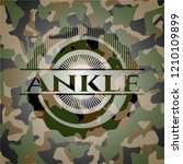 ankle on camouflaged texture | Shutterstock .eps vector #1210109899