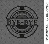 bye bye realistic dark emblem | Shutterstock .eps vector #1210109980