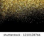 gold sparkles on black... | Shutterstock .eps vector #1210128766