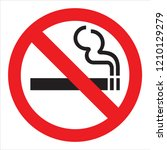 prohibition sign design | Shutterstock . vector #1210129279
