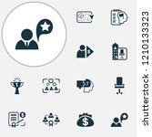 business management icons set... | Shutterstock .eps vector #1210133323