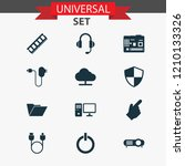 device icons set with cursor ... | Shutterstock .eps vector #1210133326