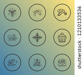 year icons line style set with... | Shutterstock .eps vector #1210133536