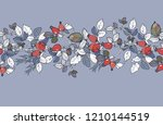 ribbon floral ornament of... | Shutterstock .eps vector #1210144519