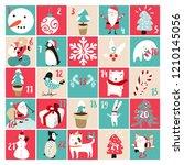 advent calendar and  christmas... | Shutterstock .eps vector #1210145056