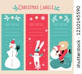 christmas labels vector...