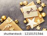 beautiful christmas golden...   Shutterstock . vector #1210151566