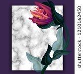 wedding invitation frame ... | Shutterstock . vector #1210162450