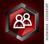 forum dark red vector hexagon...   Shutterstock .eps vector #1210165189