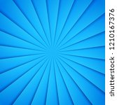 blue rays in paper style....   Shutterstock .eps vector #1210167376