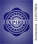 expired emblem with jean high... | Shutterstock .eps vector #1210170826