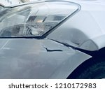 car scratch at front bumper... | Shutterstock . vector #1210172983