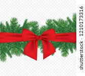 christmas 3d realistic vector... | Shutterstock .eps vector #1210173316