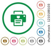 ip printer flat color icons in... | Shutterstock .eps vector #1210188103