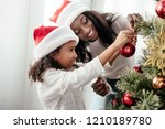 african american mother and... | Shutterstock . vector #1210189780