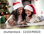 smiling african american family ... | Shutterstock . vector #1210190023