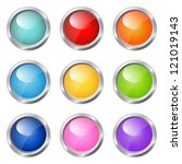 set of glossy buttons | Shutterstock .eps vector #121019143