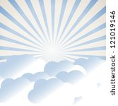 clouds and sun rays | Shutterstock .eps vector #121019146