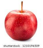 red apple isolated on white.... | Shutterstock . vector #1210196509