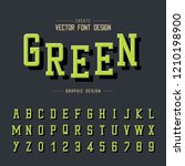 texture font and grunge... | Shutterstock .eps vector #1210198900
