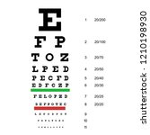 eye chart test. snellen chart.... | Shutterstock .eps vector #1210198930