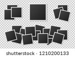 black and white polaroid photo... | Shutterstock .eps vector #1210200133