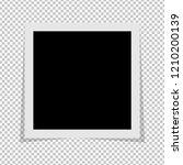black and white photo frame...   Shutterstock .eps vector #1210200139