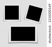 black and white photo frames... | Shutterstock .eps vector #1210200169