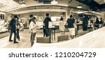 panorama view asian bakery shop ...   Shutterstock . vector #1210204729