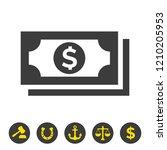 money icon on white background. ...   Shutterstock .eps vector #1210205953