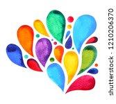 7 color of chakra mandala... | Shutterstock . vector #1210206370