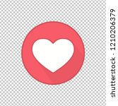 flat style heart icon template... | Shutterstock .eps vector #1210206379