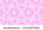 pink red geometric watercolor.... | Shutterstock . vector #1210207063