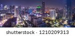 aerial view of jakarta's... | Shutterstock . vector #1210209313
