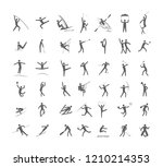 big set of sport games.... | Shutterstock .eps vector #1210214353