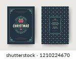 christmas greeting card design... | Shutterstock .eps vector #1210224670