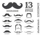isolated silhouette moustache... | Shutterstock .eps vector #1210228423