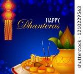 inidan holiday of happy... | Shutterstock .eps vector #1210229563