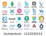 set of logos popular... | Shutterstock .eps vector #1210234213