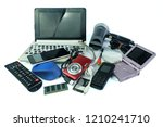 electronic waste  gadgets for... | Shutterstock . vector #1210241710