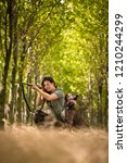 autumn hunting season. hunting. ... | Shutterstock . vector #1210244299