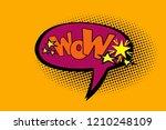 pop art illustration with wow... | Shutterstock . vector #1210248109