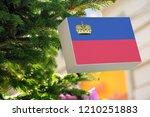 liechtenstein flag printed on a ... | Shutterstock . vector #1210251883