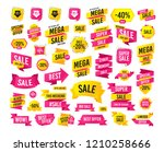 sale banner. super mega... | Shutterstock .eps vector #1210258666