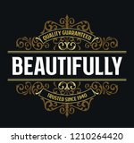 victorian badge stylish... | Shutterstock .eps vector #1210264420