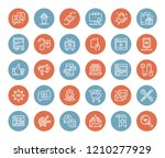 vector set of marketing and... | Shutterstock .eps vector #1210277929